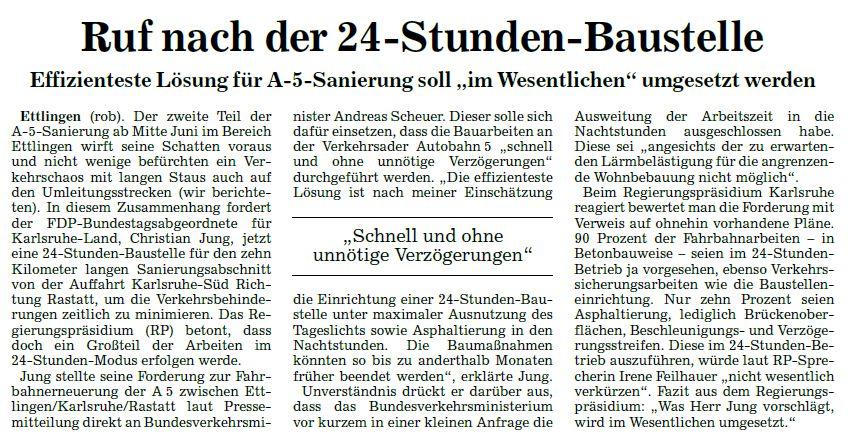 BNN 24h-Baustelle Ettlingen-Rastatt 23052018